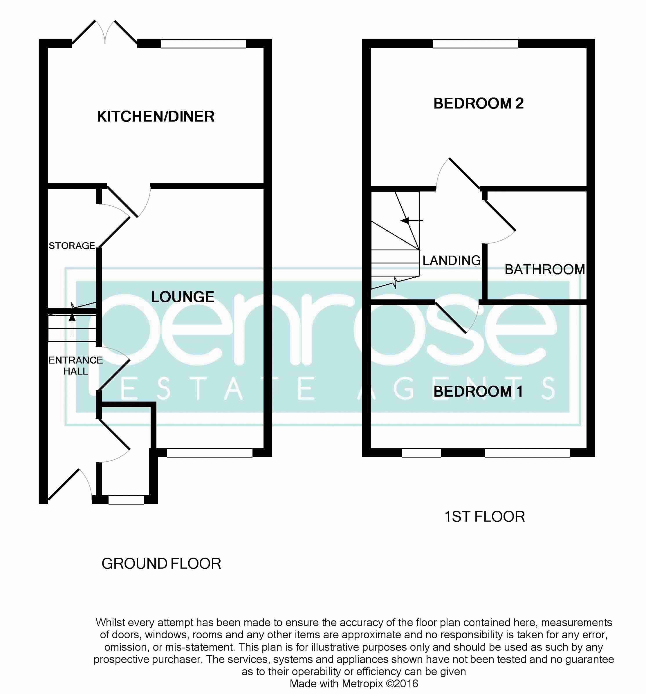 2 bedroom Mid Terrace to buy in Guardian Way, Luton Floorplan