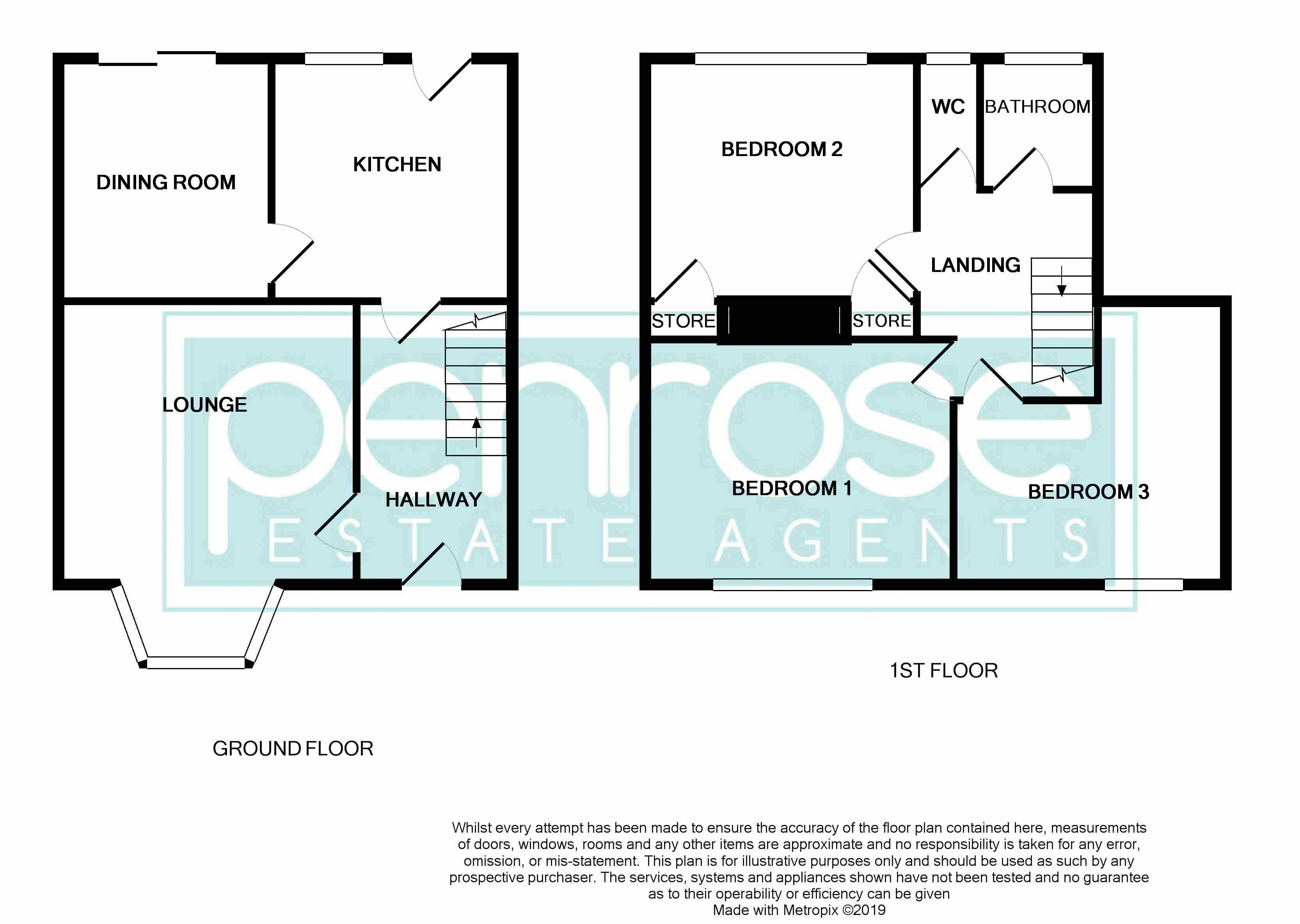 3 bedroom Mid Terrace to buy in Whipperley Way, Luton Floorplan