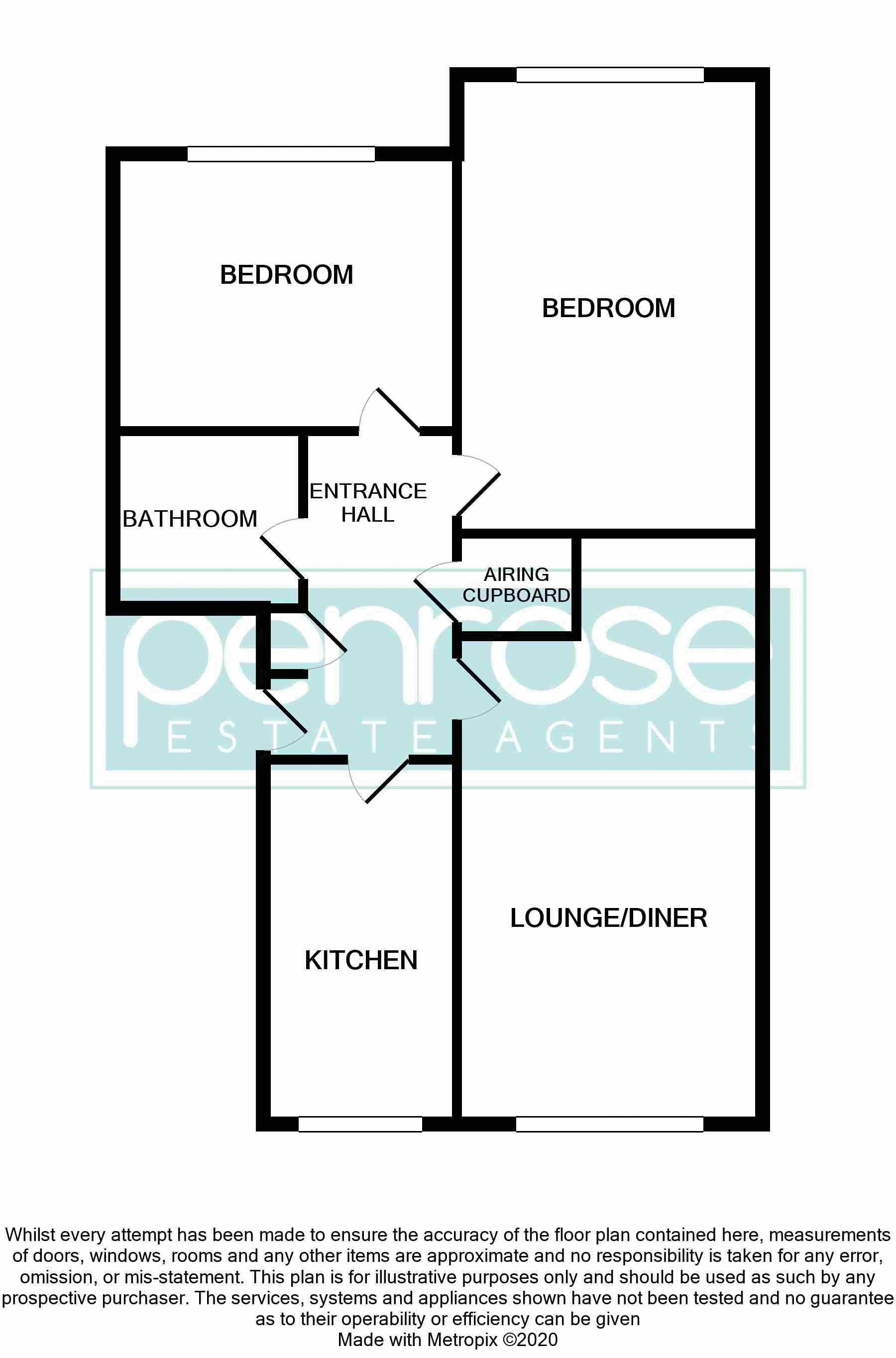 2 bedroom Flat to buy in Watling Gardens, Dunstable Floorplan