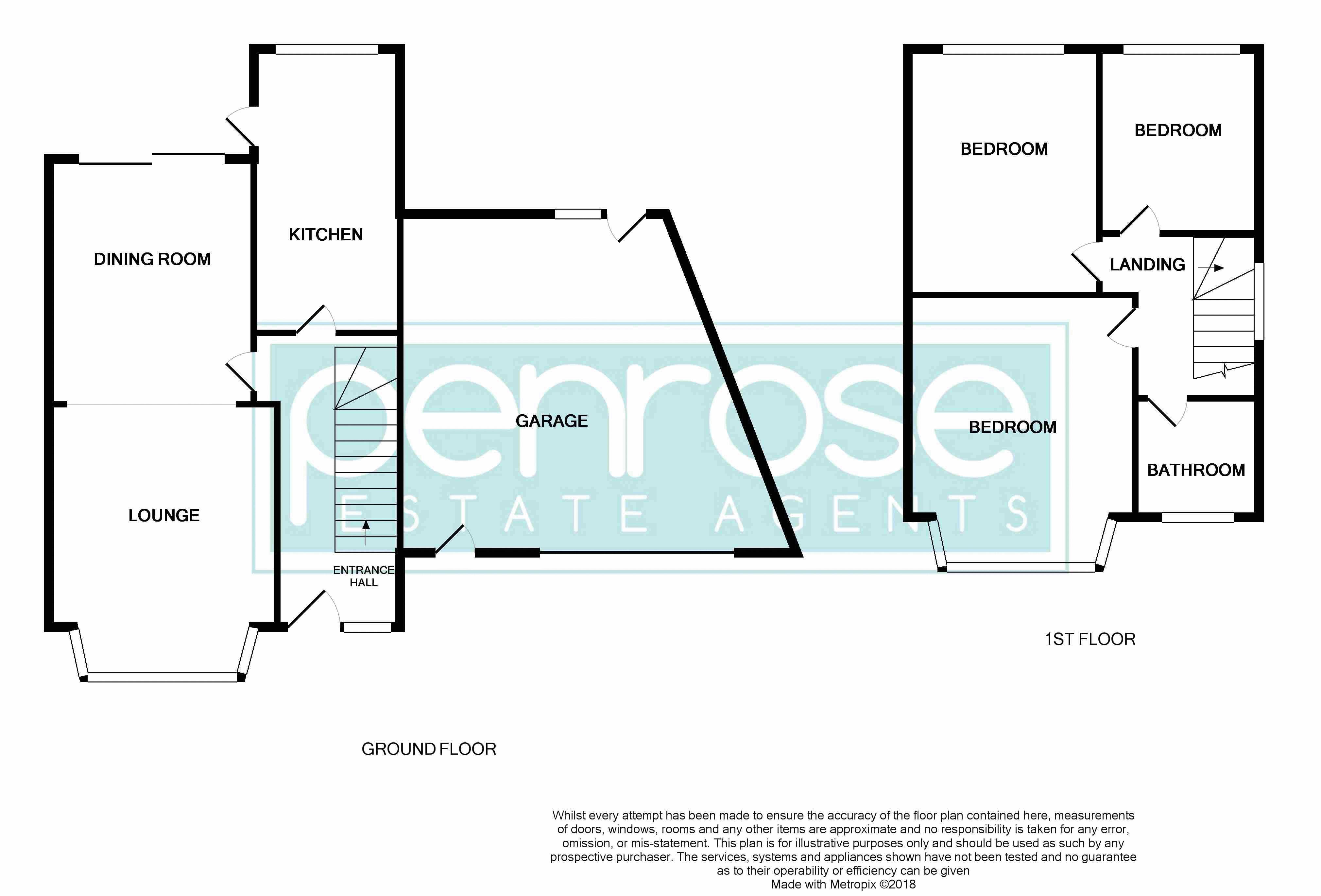 3 bedroom Semi-Detached  to rent in Seymour Road, Luton Floorplan