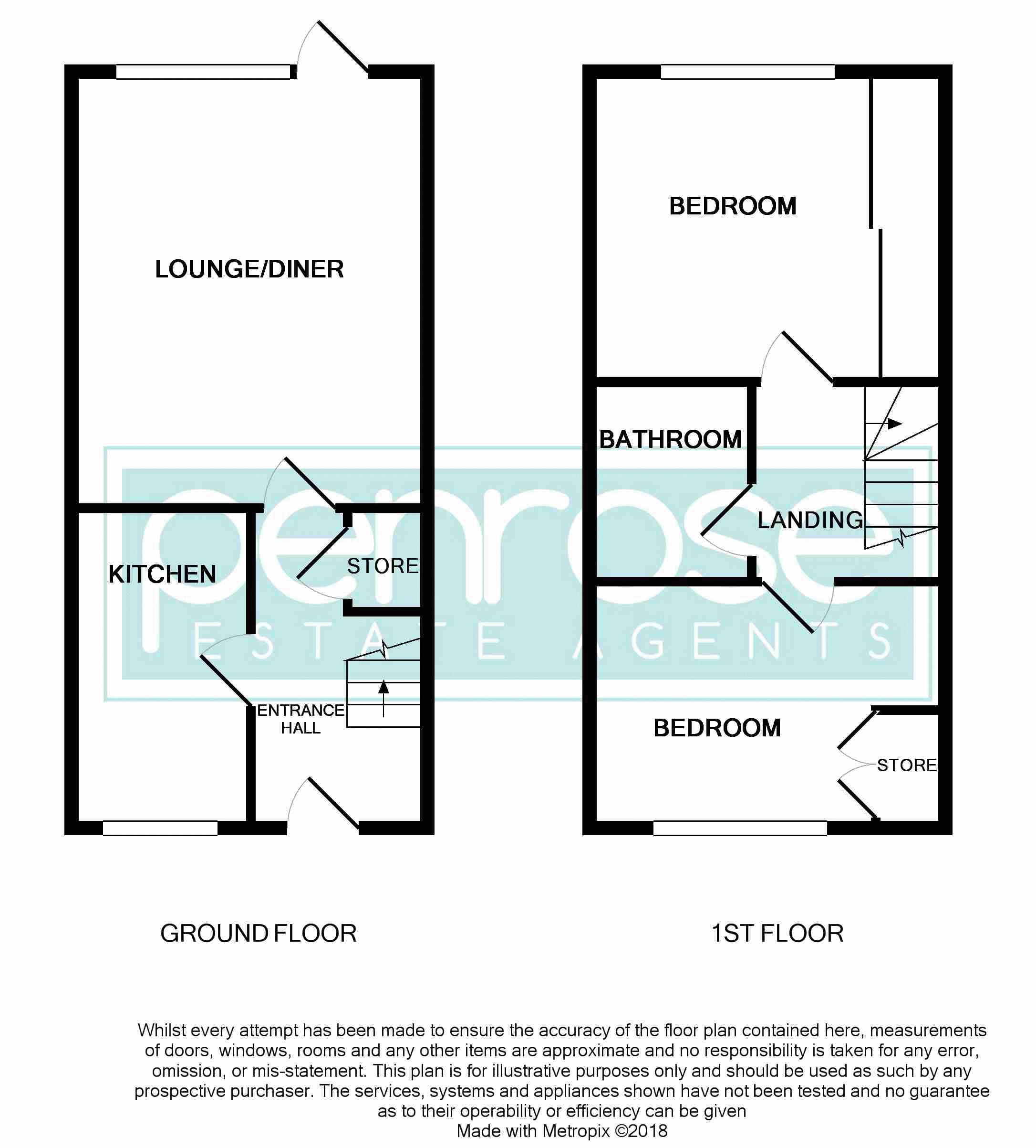 2 bedroom Mid Terrace to buy in Spayne Close, Luton Floorplan