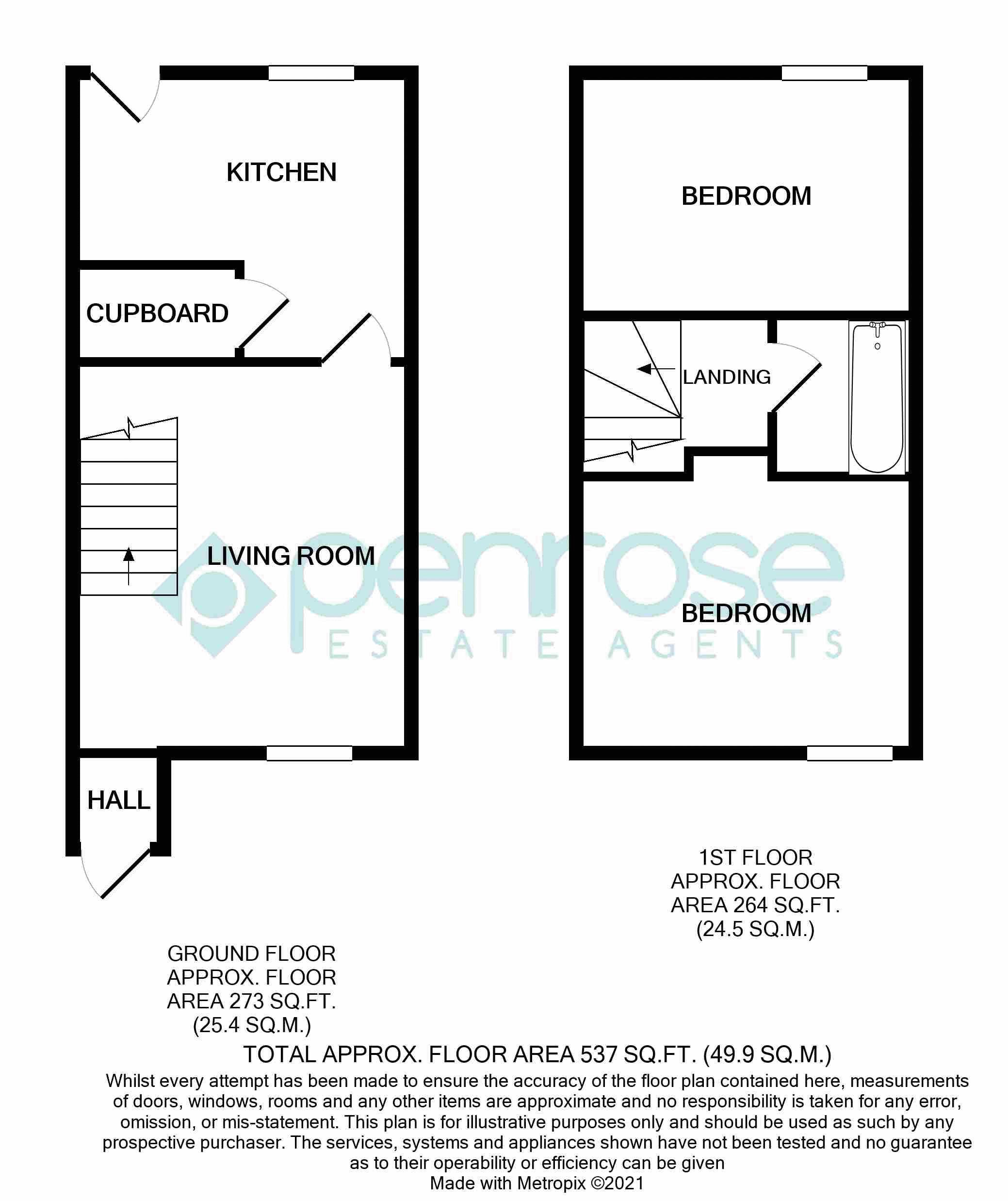 2 bedroom Mid Terrace to rent in Cromer Way, Luton