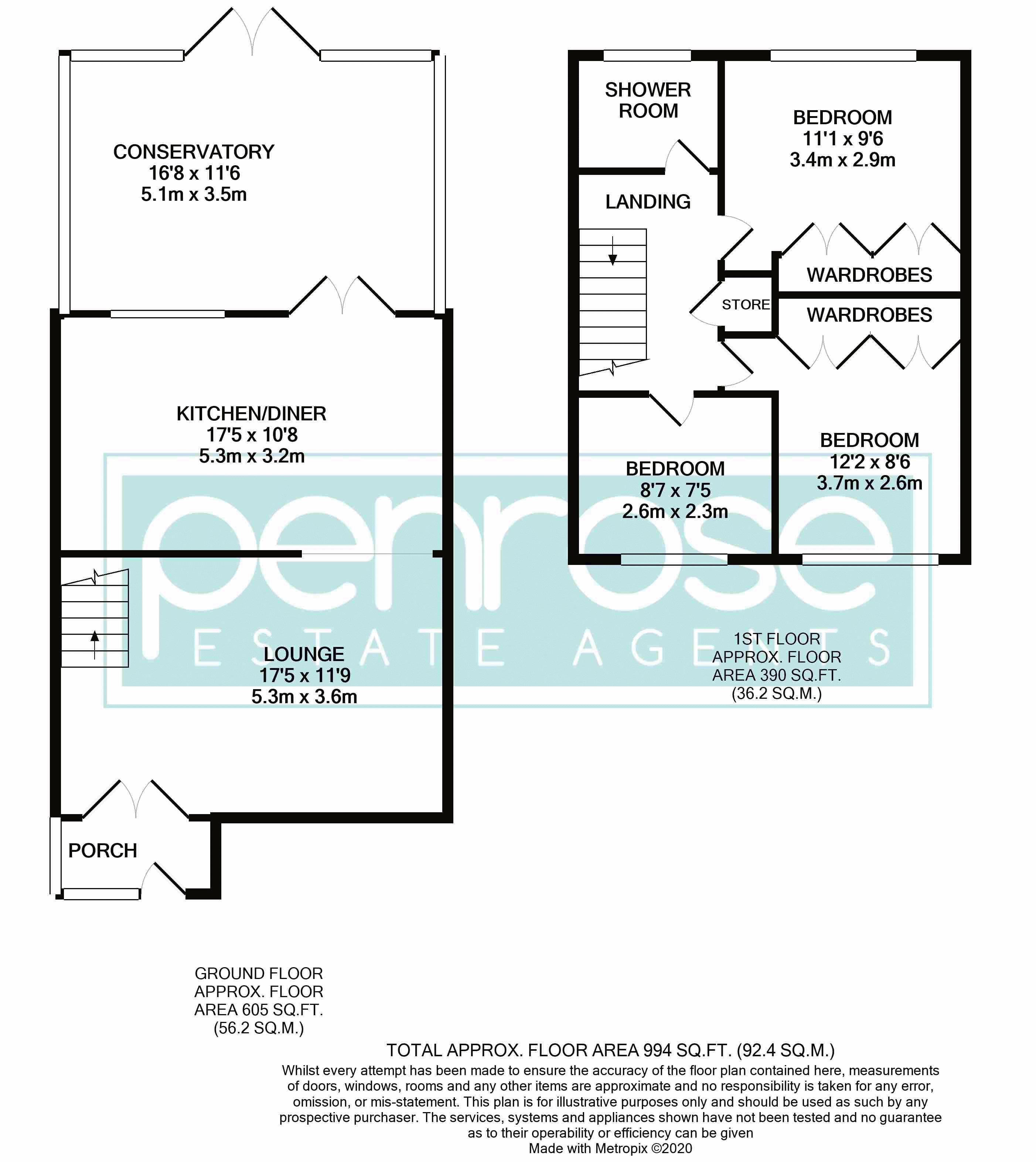 3 bedroom End Terrace to buy in Telscombe Way, Luton Floorplan