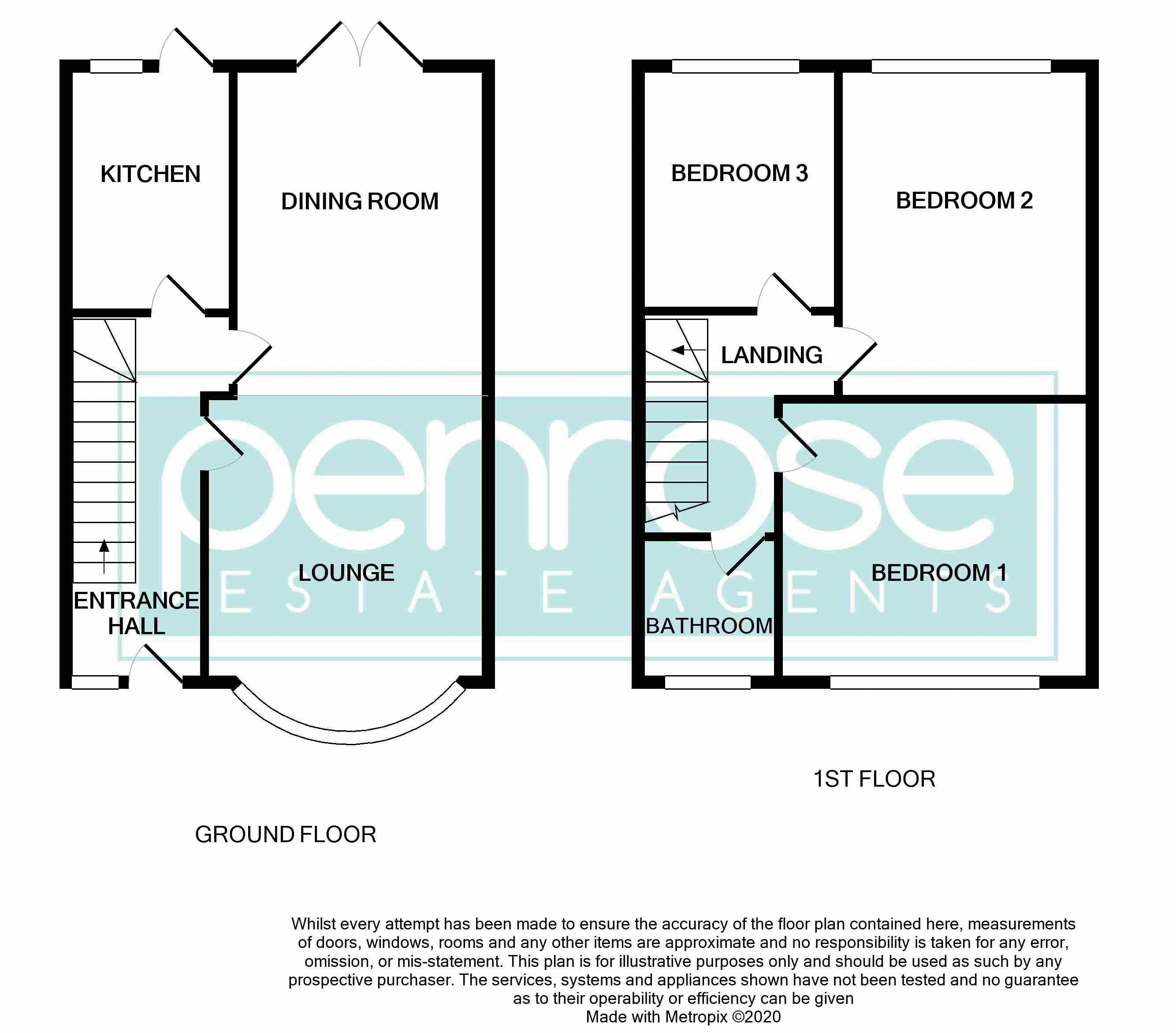 3 bedroom Mid Terrace to buy in Harefield Road, Luton Floorplan