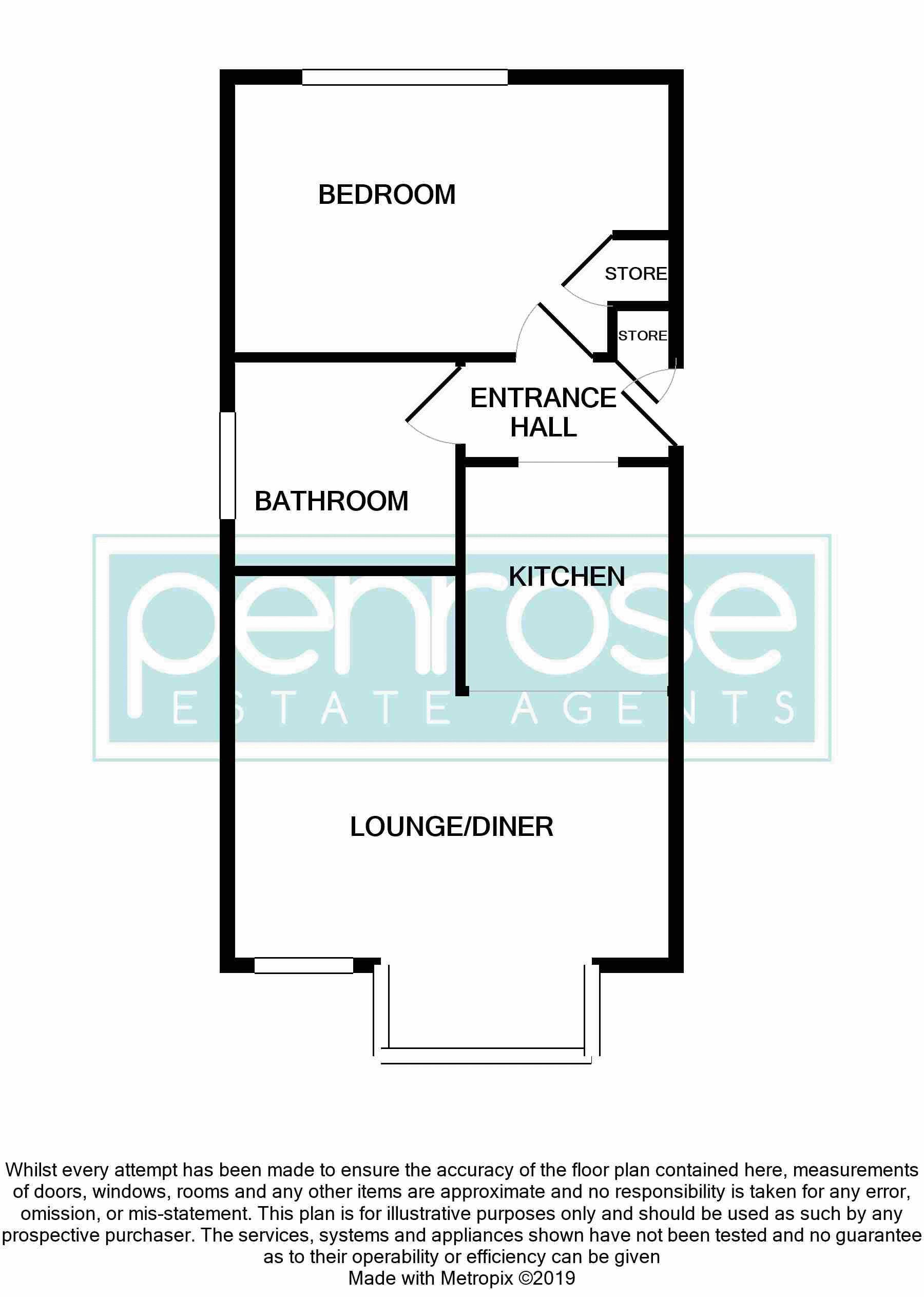 1 bedroom Flat to buy in Mistletoe Hill, Luton Floorplan