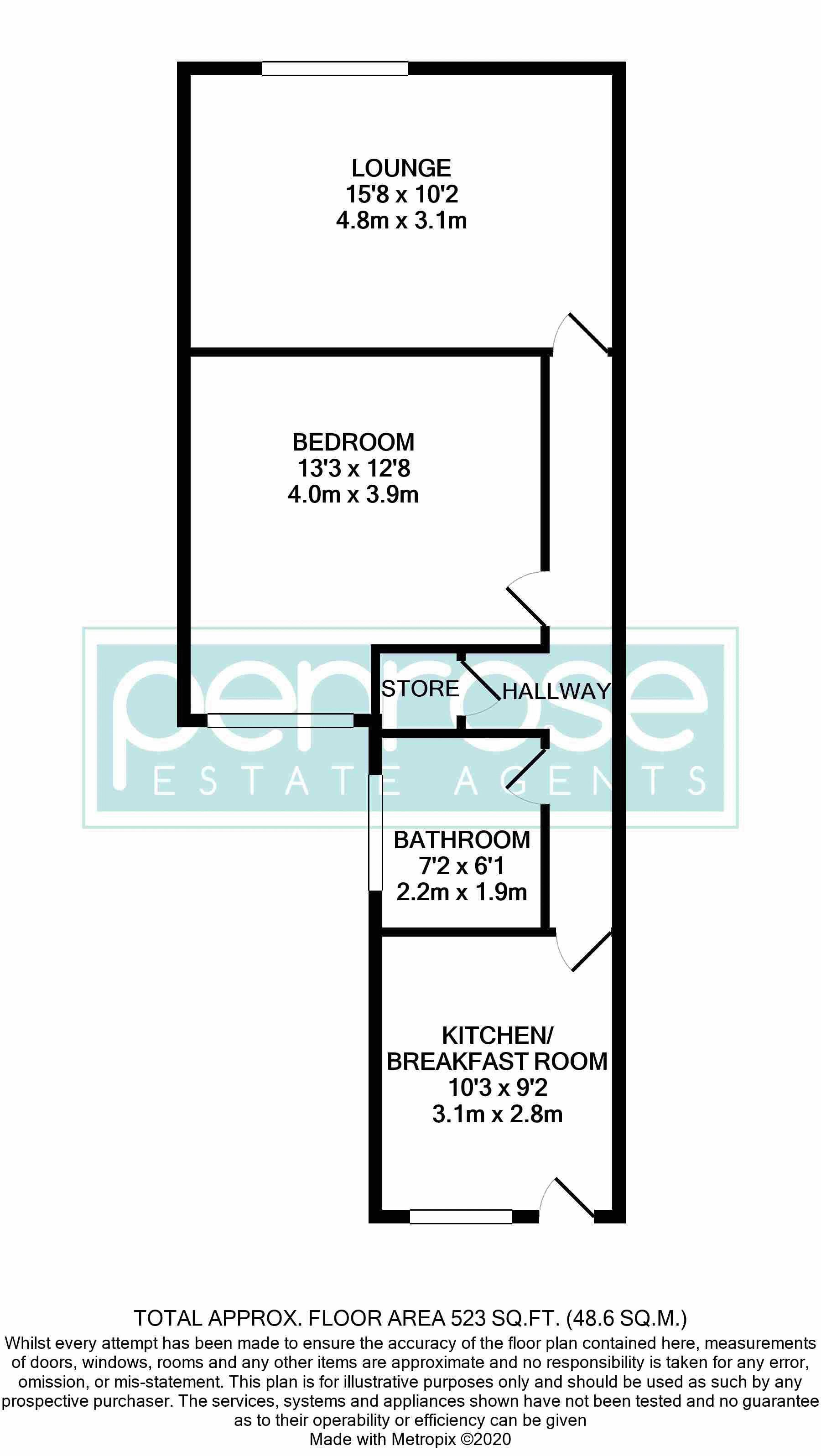 1 bedroom Maisonette to buy in Wellington Street, Luton Floorplan