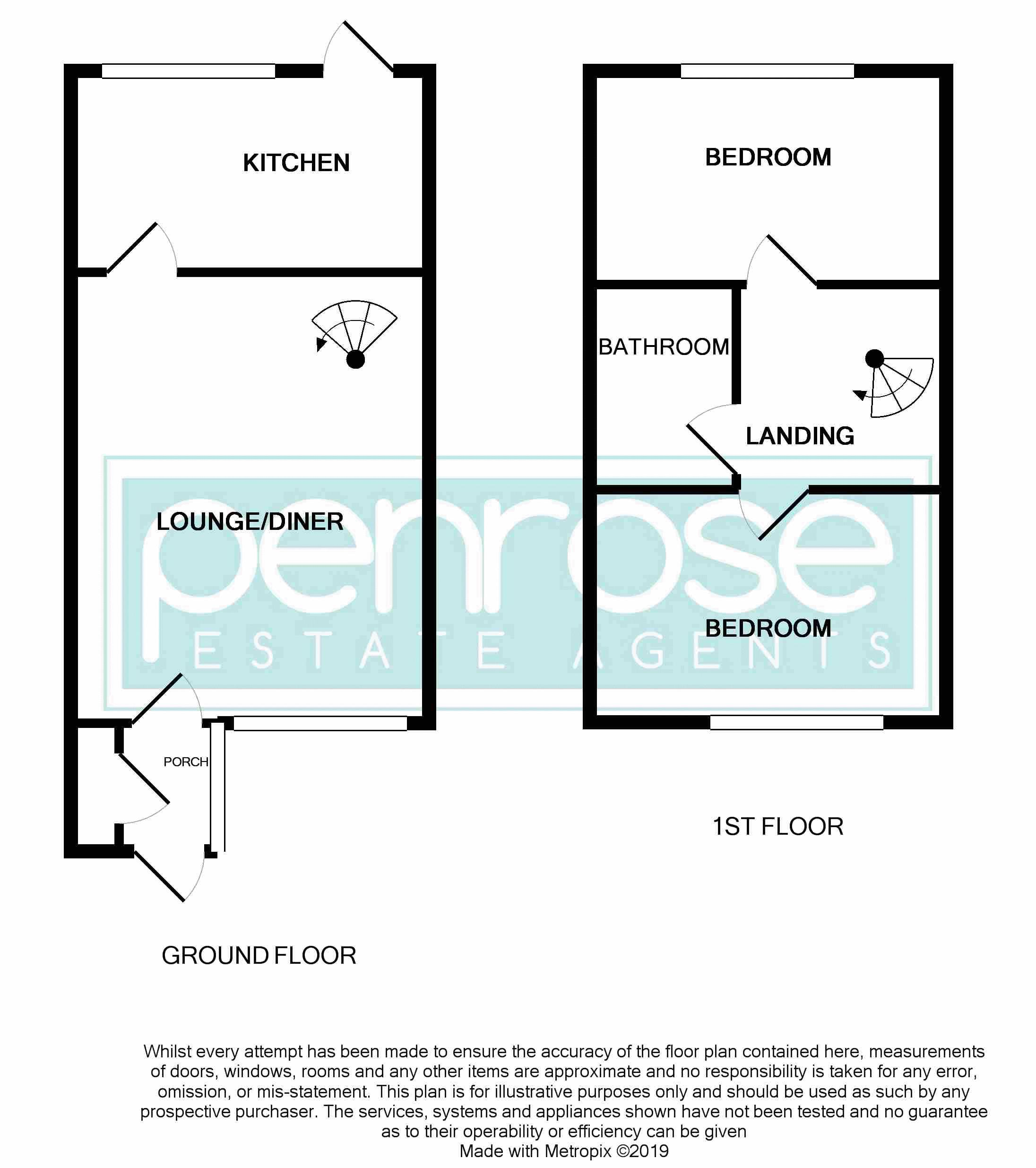 2 bedroom Mid Terrace to buy in Brussels Way, Luton Floorplan