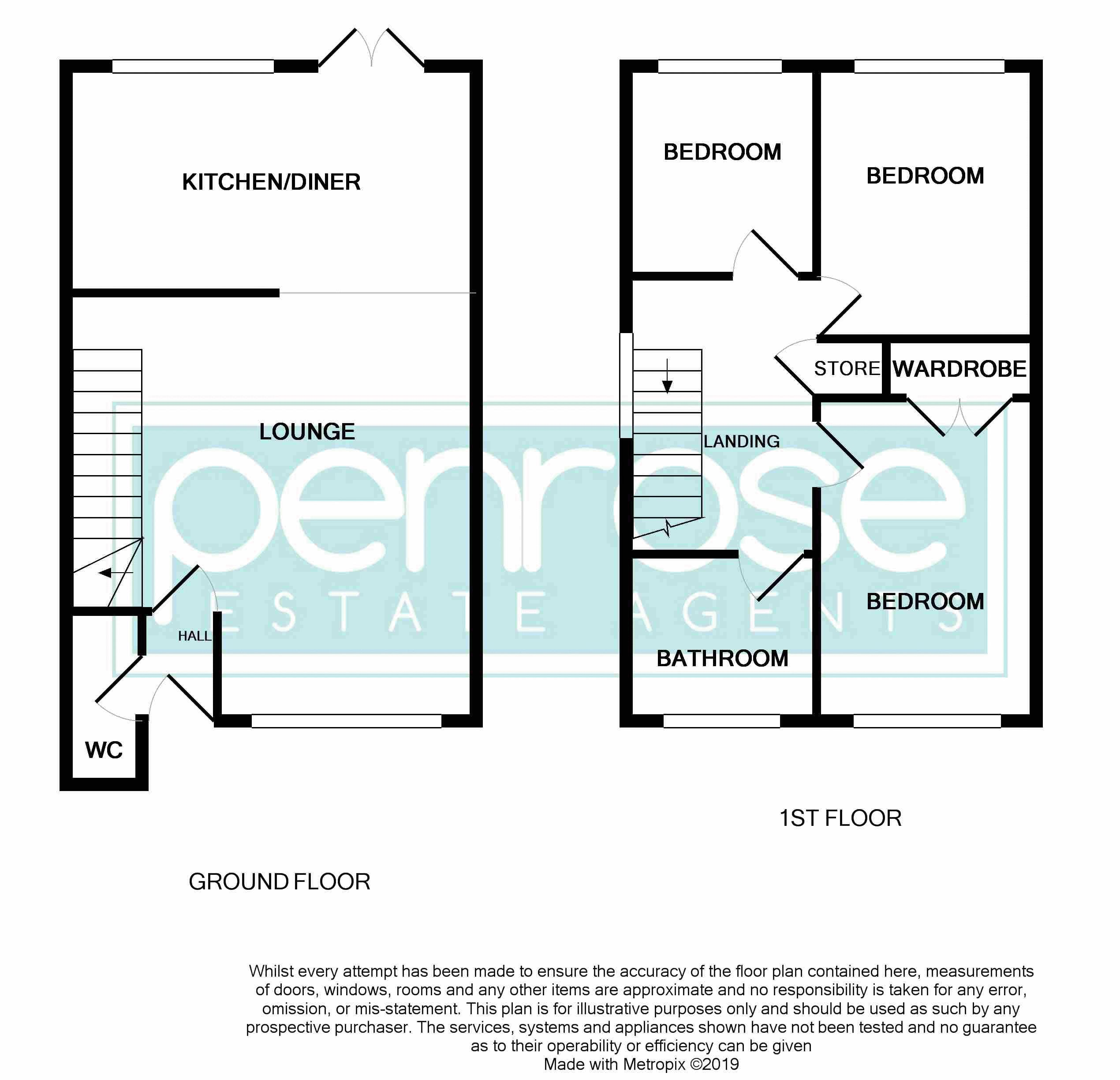 3 bedroom End Terrace to buy in Chalkdown, Luton Floorplan