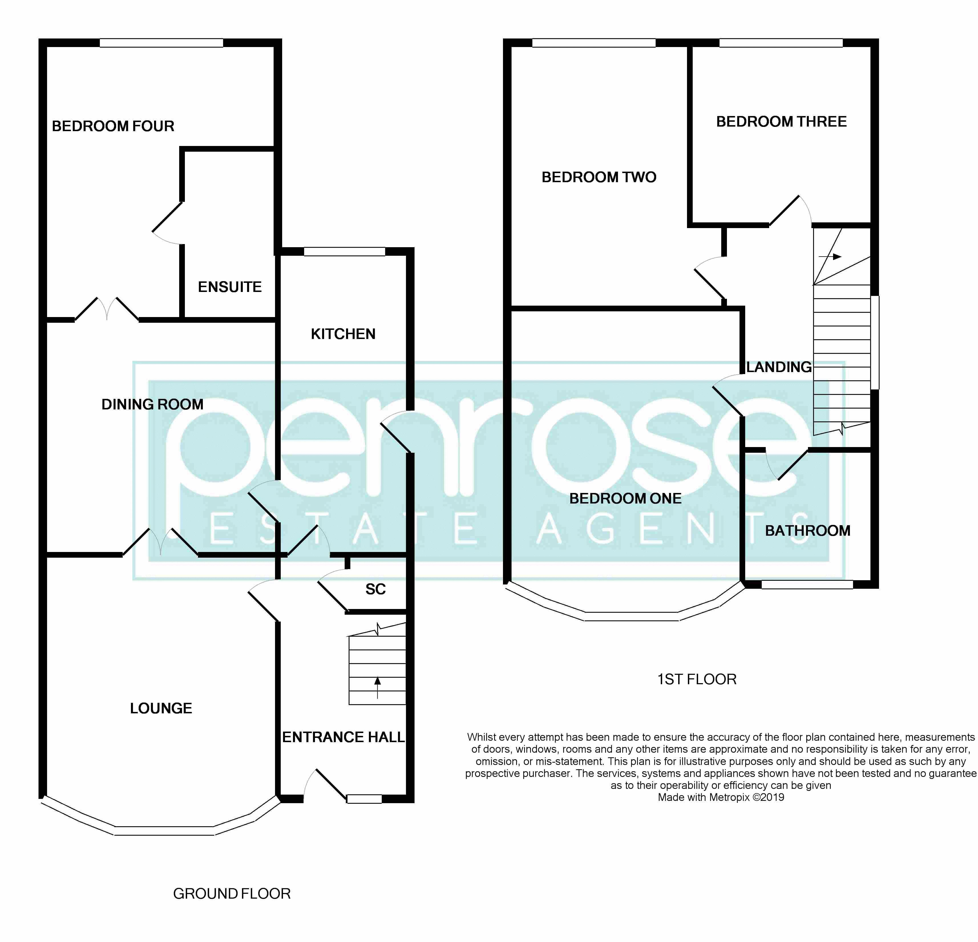 4 bedroom End Terrace to buy in Chester Avenue, Luton Floorplan