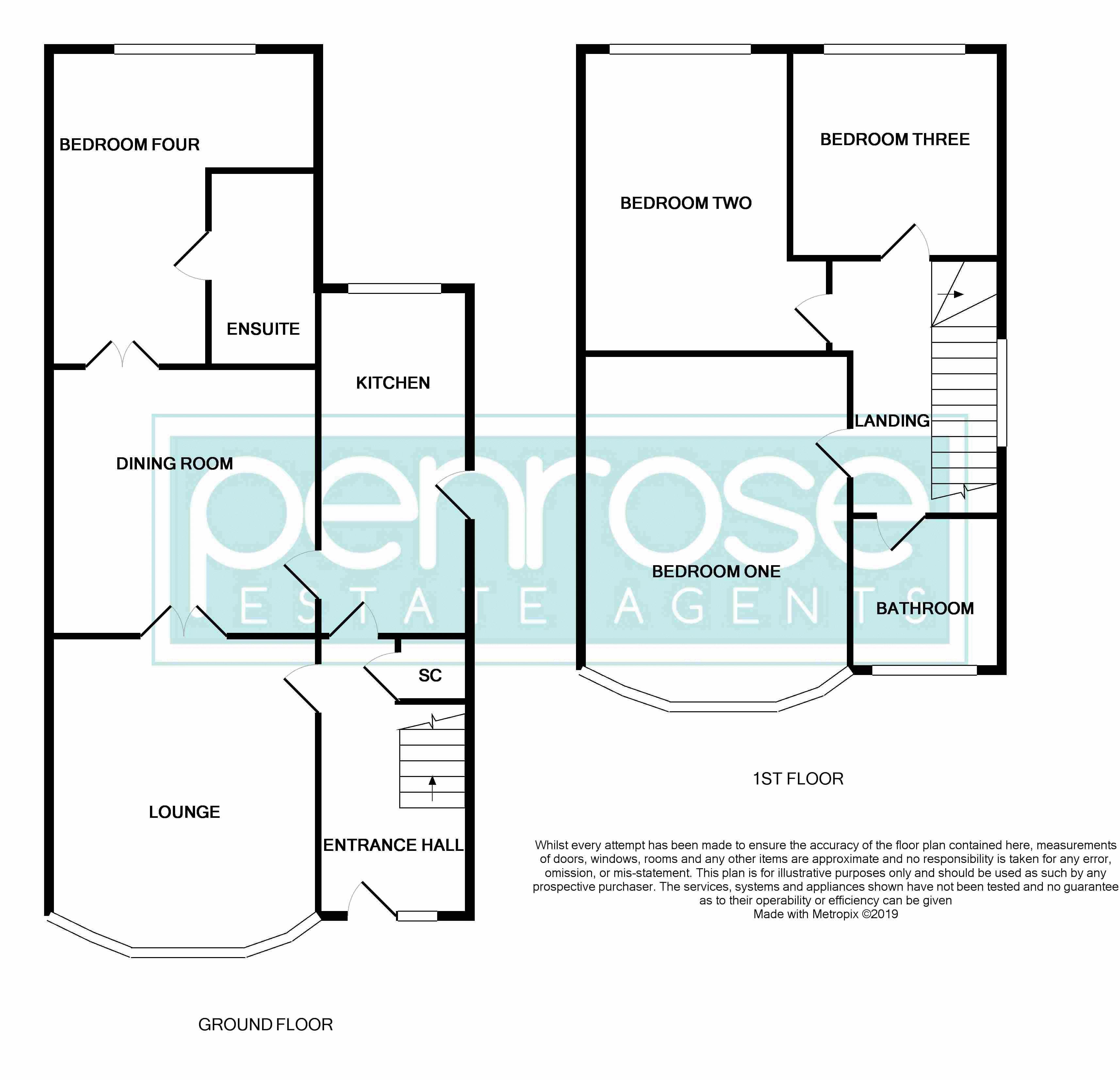 4 bedroom End Terrace to buy in Chester Avenue, Luton Floorplan