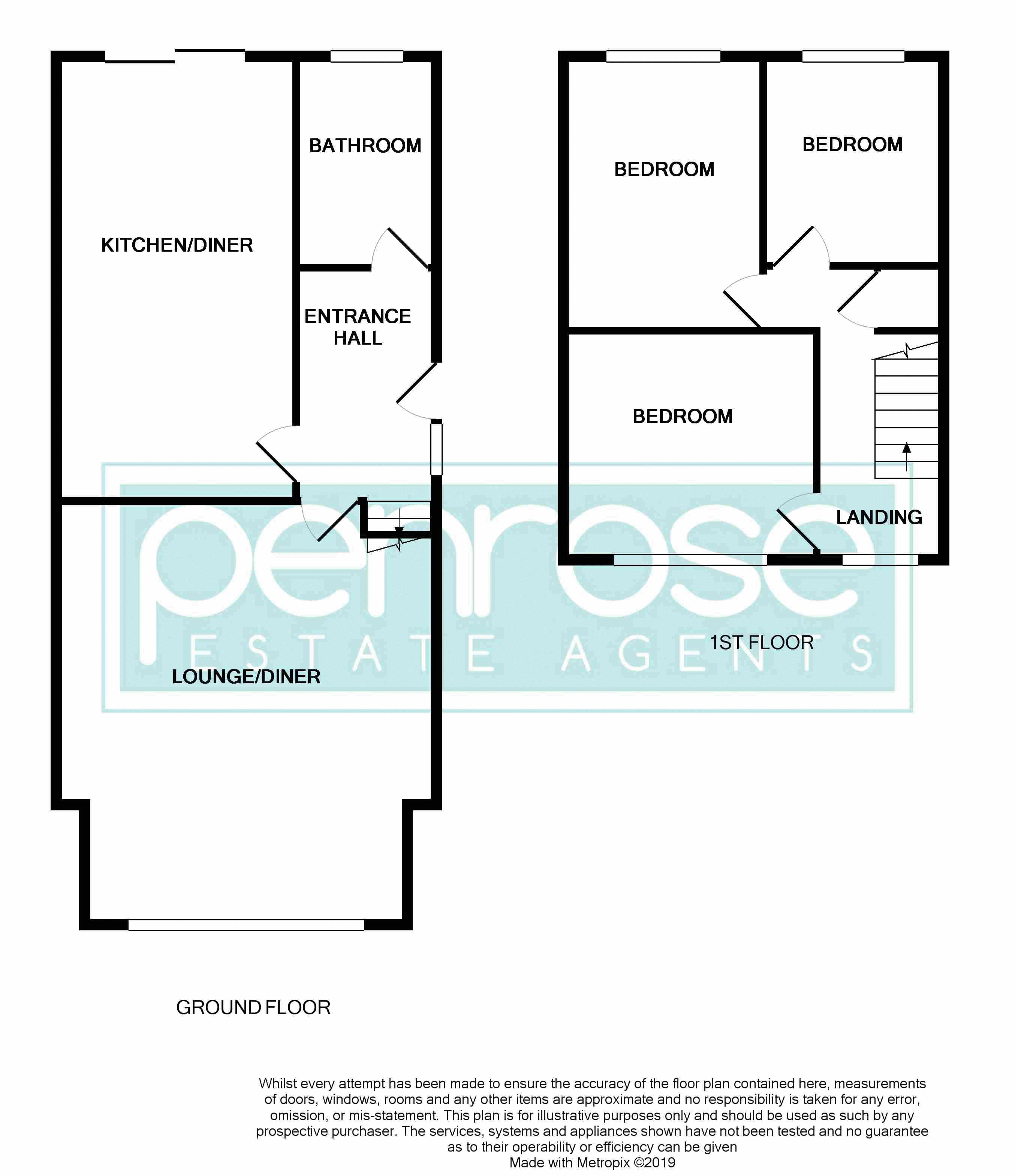 3 bedroom Semi-Detached  to buy in Eastcott Close, Luton Floorplan