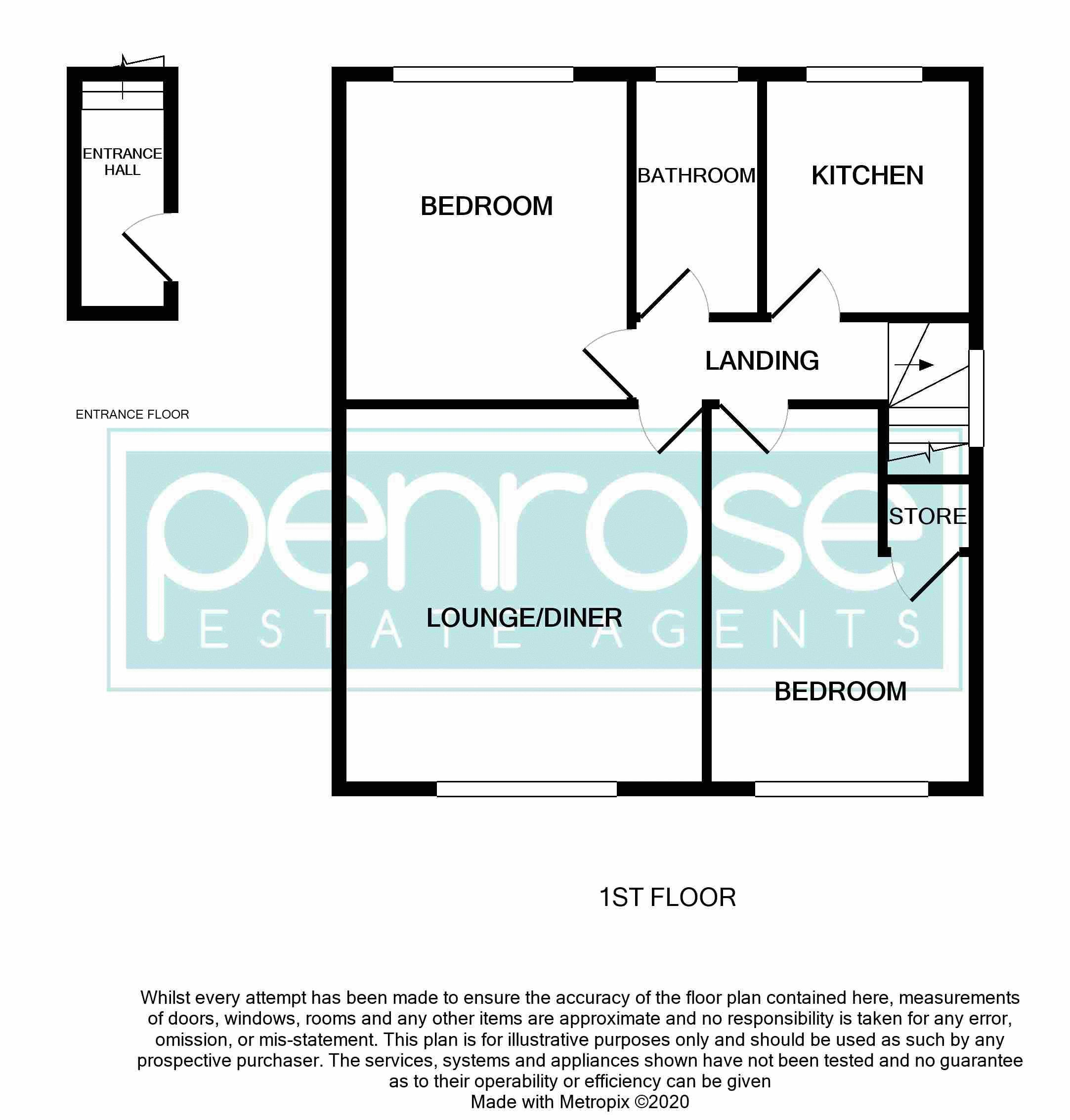 2 bedroom Maisonette to buy in Heywood Drive, Luton Floorplan