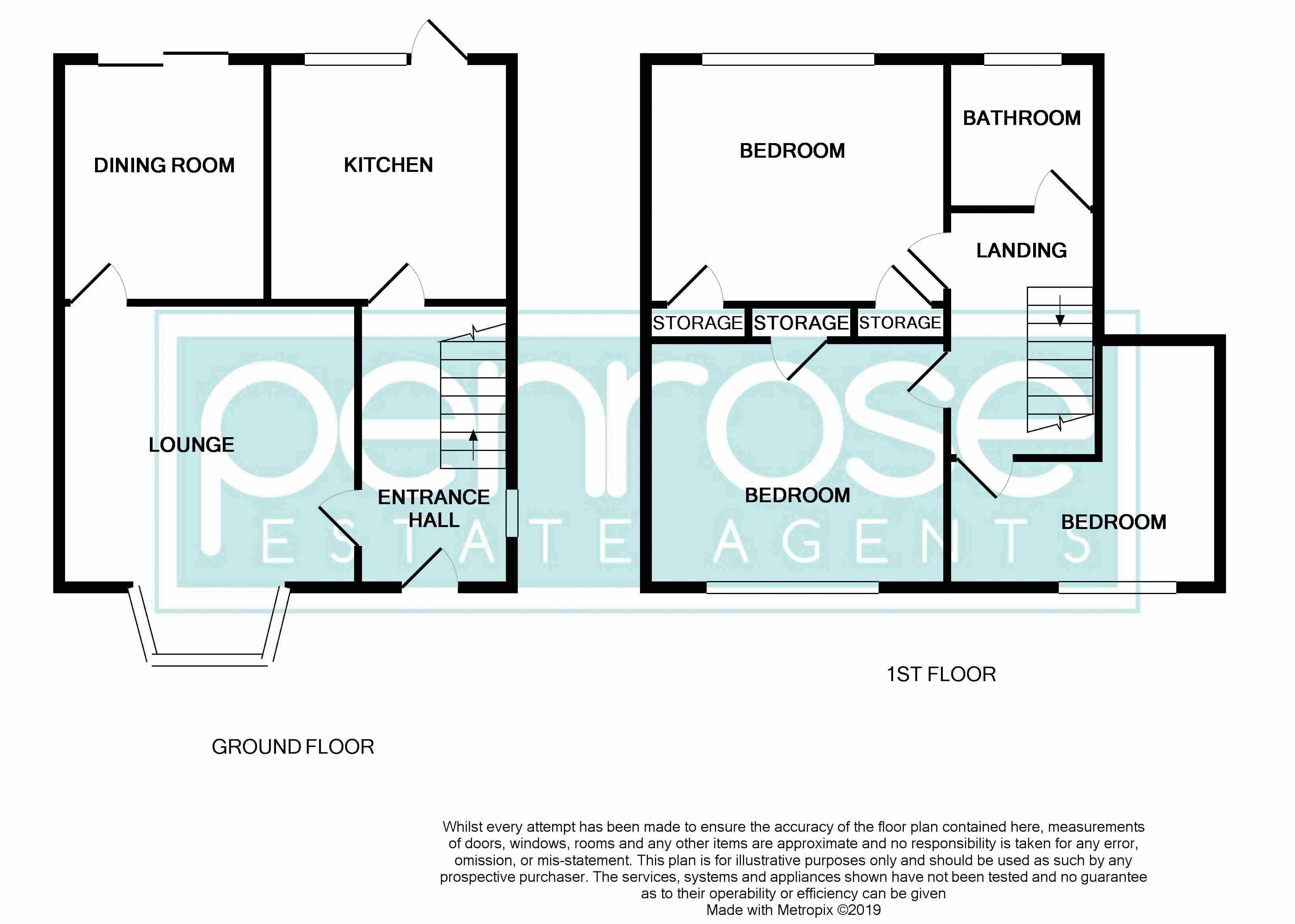 3 bedroom Mid Terrace to buy in Longcroft Road, Luton Floorplan