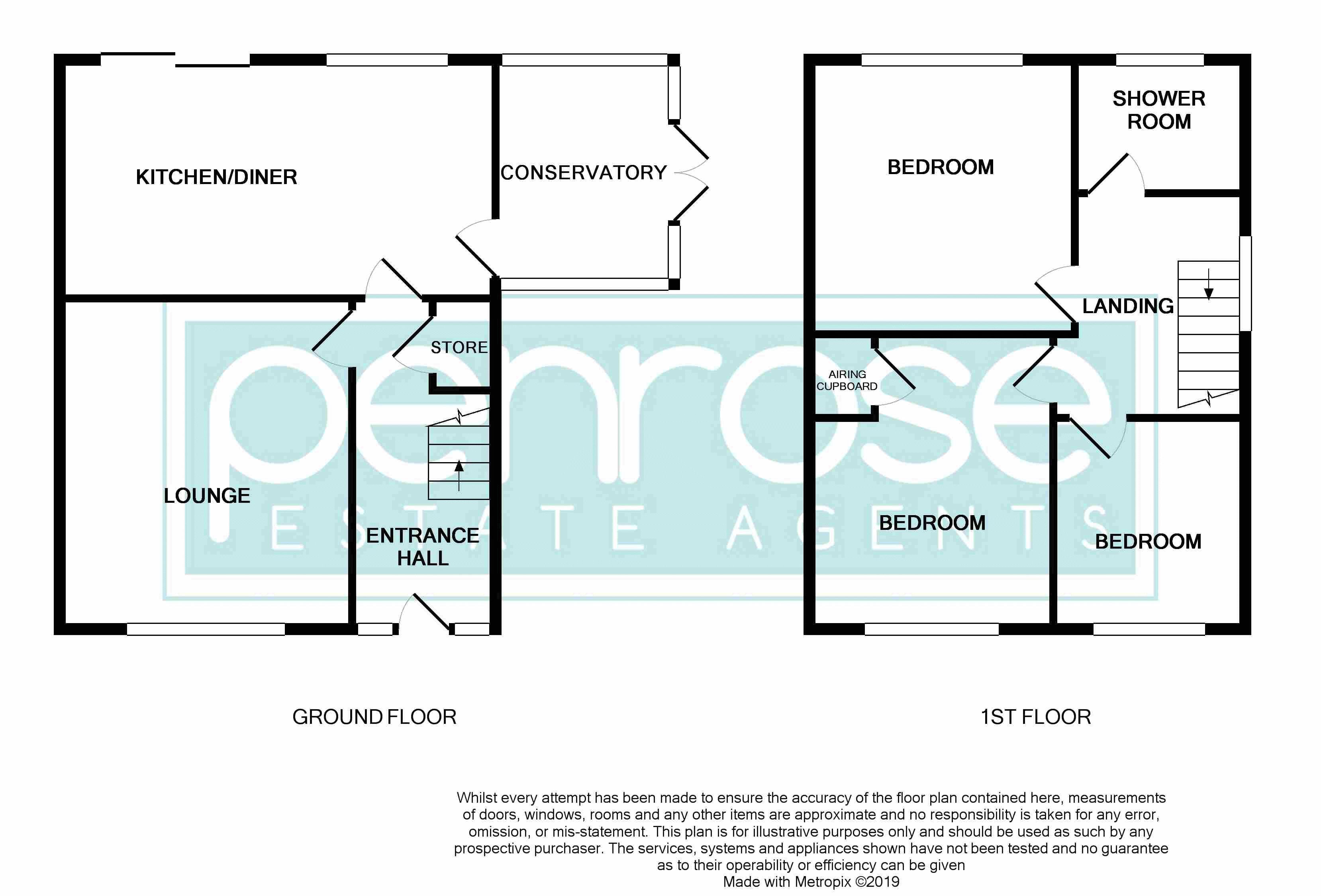 3 bedroom Semi-Detached  to buy in Carsdale Close, Luton Floorplan