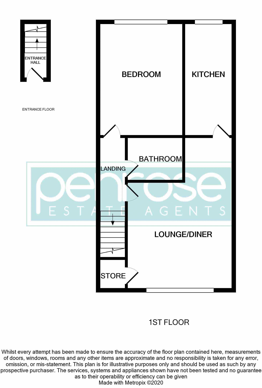 1 bedroom Maisonette to buy in Enderby Road, Luton Floorplan