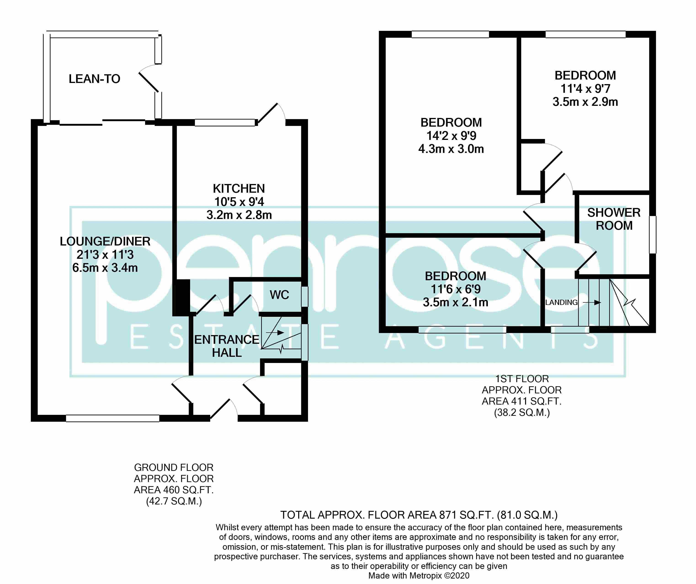 3 bedroom Semi-Detached  to buy in Birdsfoot Lane, Luton Floorplan