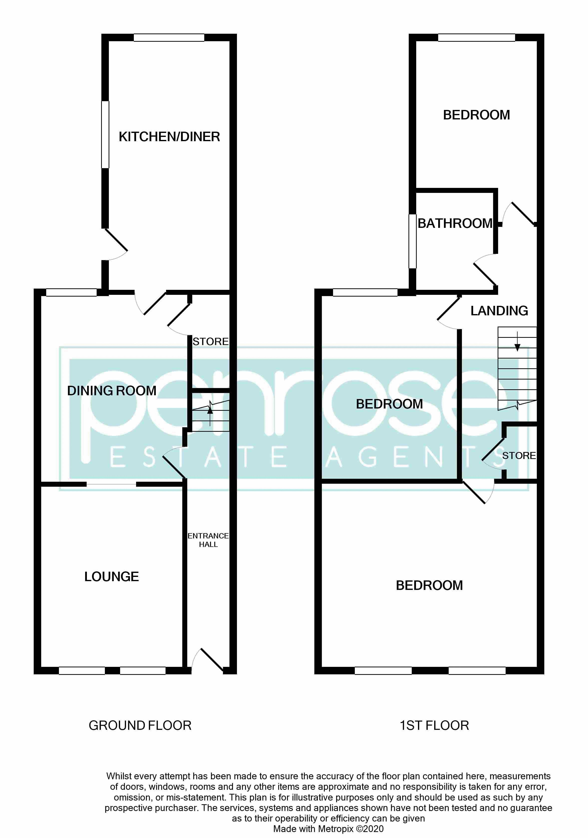 3 bedroom Mid Terrace to buy in Gardenia Avenue, Luton Floorplan