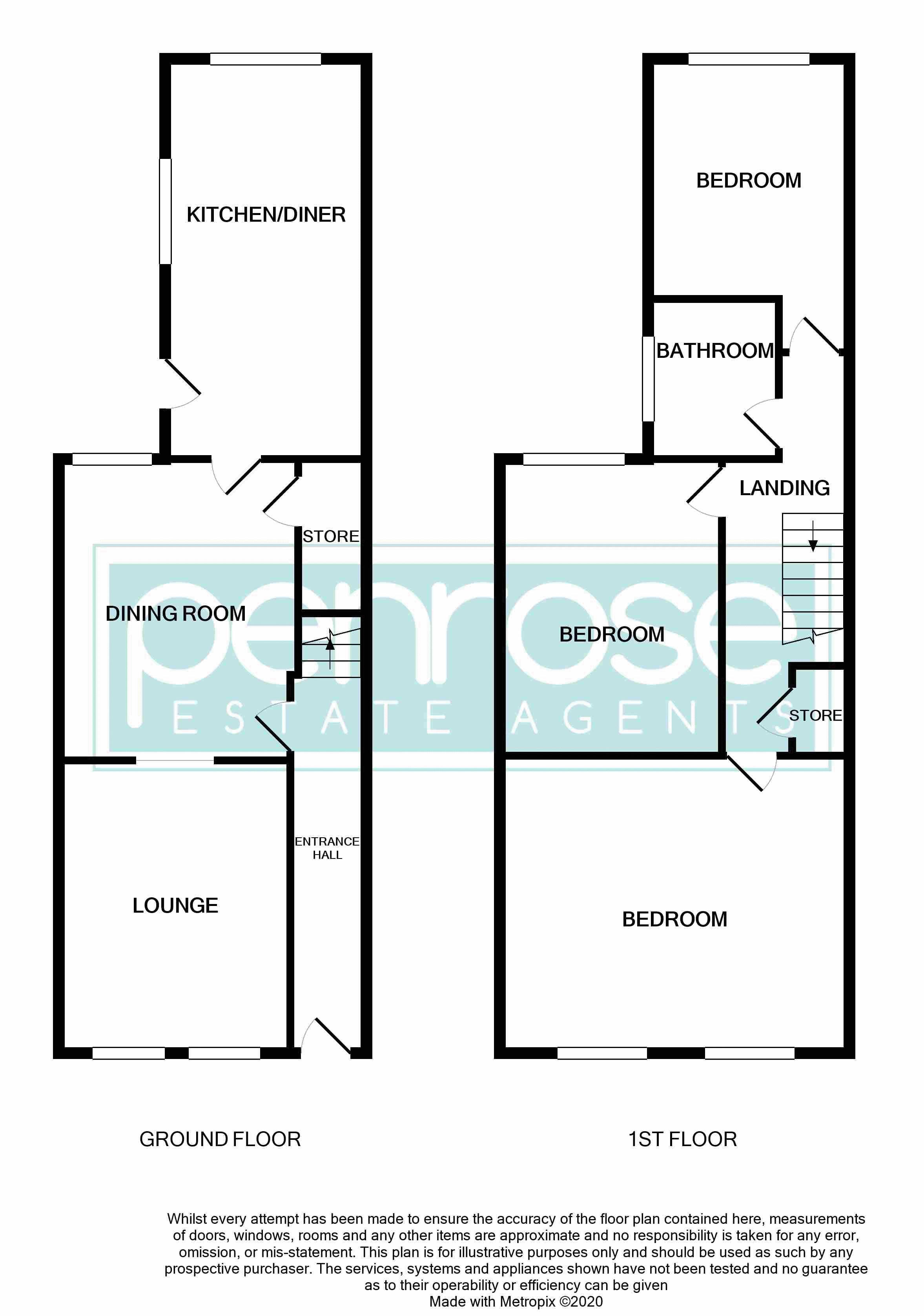 3 bedroom Mid Terrace to buy in Gardenia Avenue, Luton Floorplan