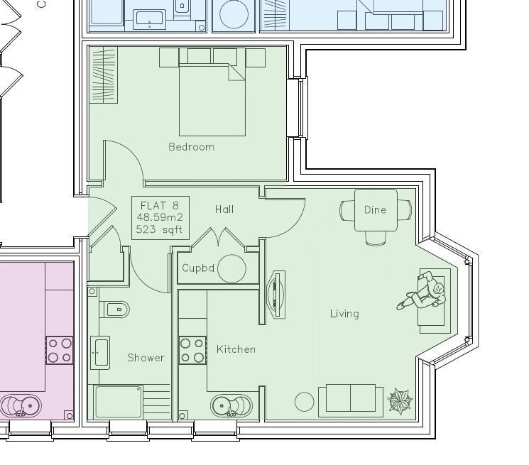 1 bedroom Apartment / Studio to buy in 46 London Road, Luton Floorplan