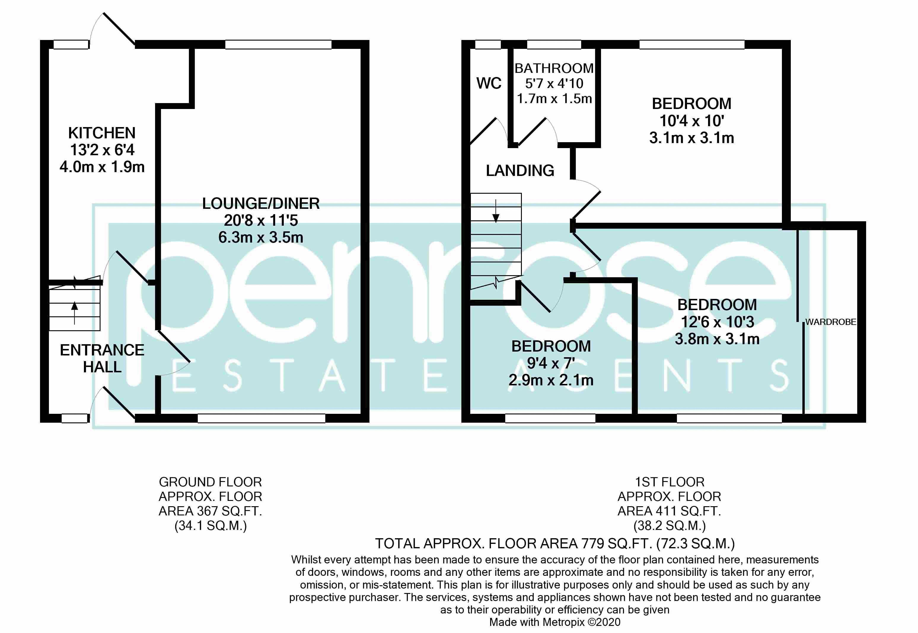 3 bedroom Mid Terrace to buy in Beadlow Road, Luton Floorplan