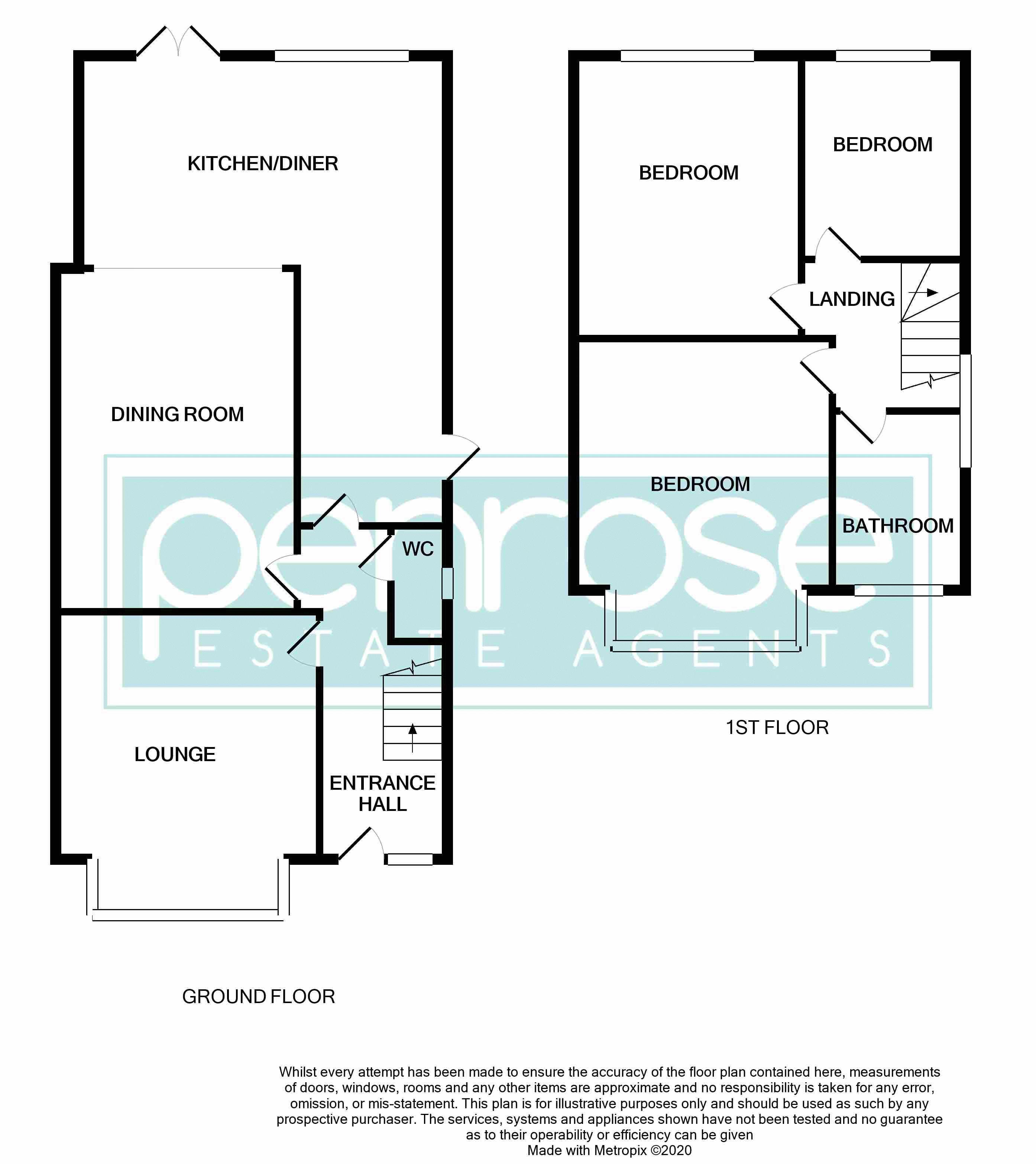 3 bedroom Semi-Detached  to buy in Colin Road, Luton Floorplan