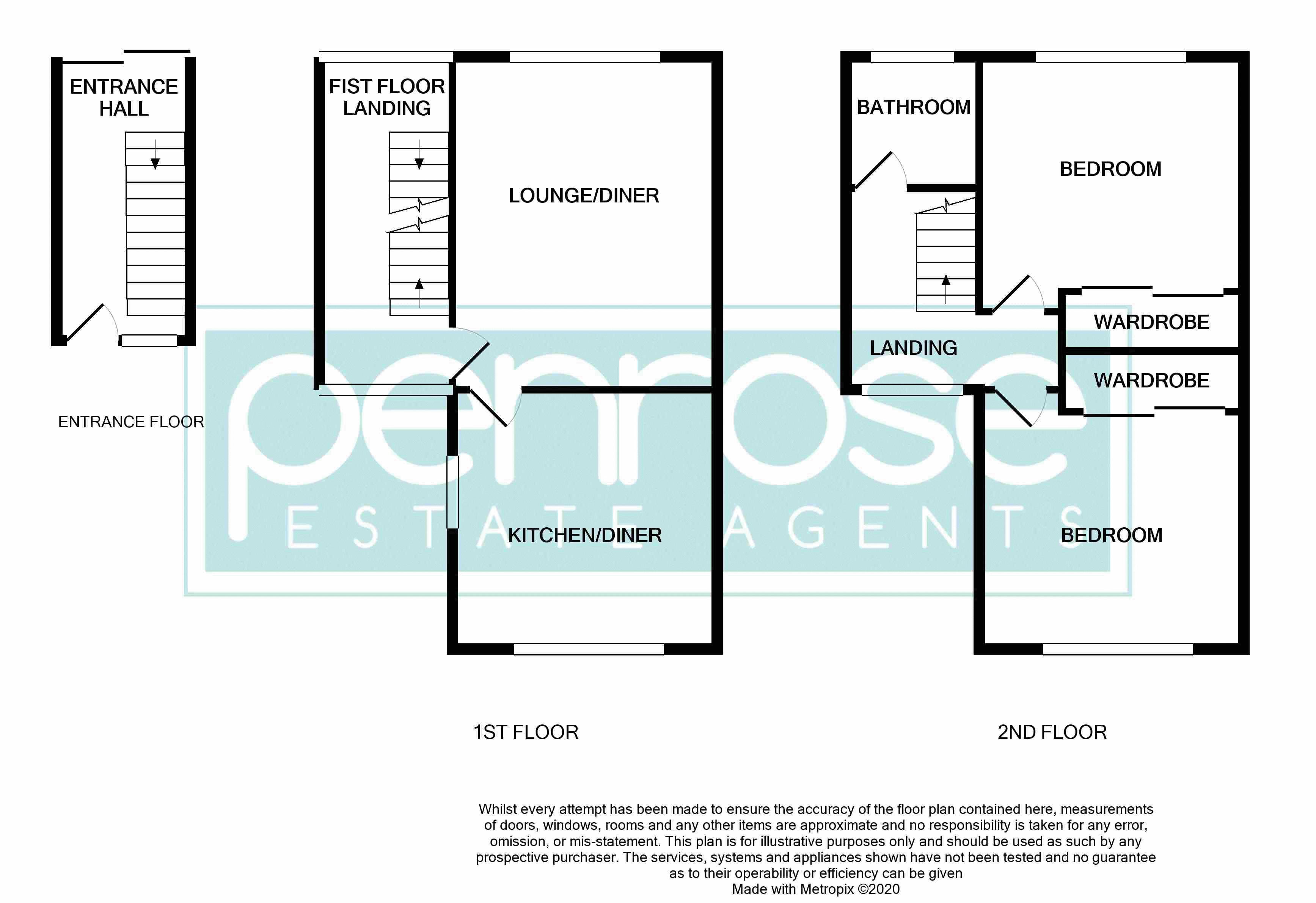2 bedroom Maisonette to buy in Brendon Avenue, Luton Floorplan
