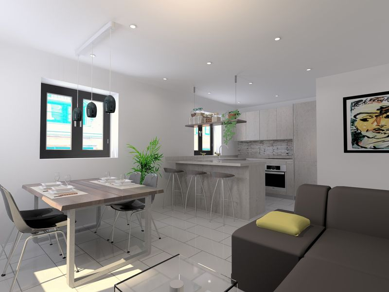 CAD open plan living image