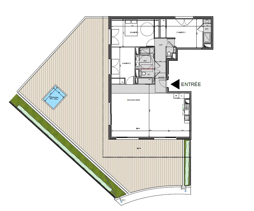 Photo of Le Domaine De Spagnol - 3 bed Penthouse