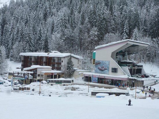 The residence in the winter