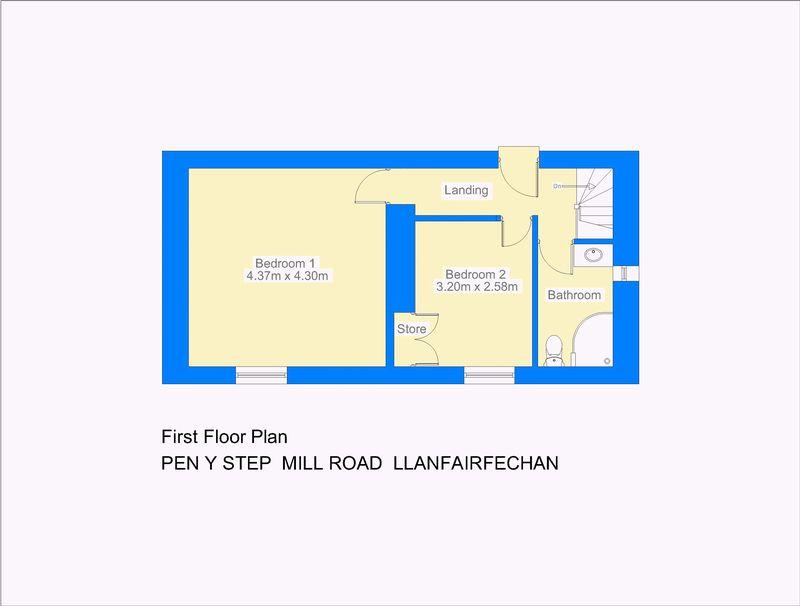 Pen y step mill road llanfairfechan layout2