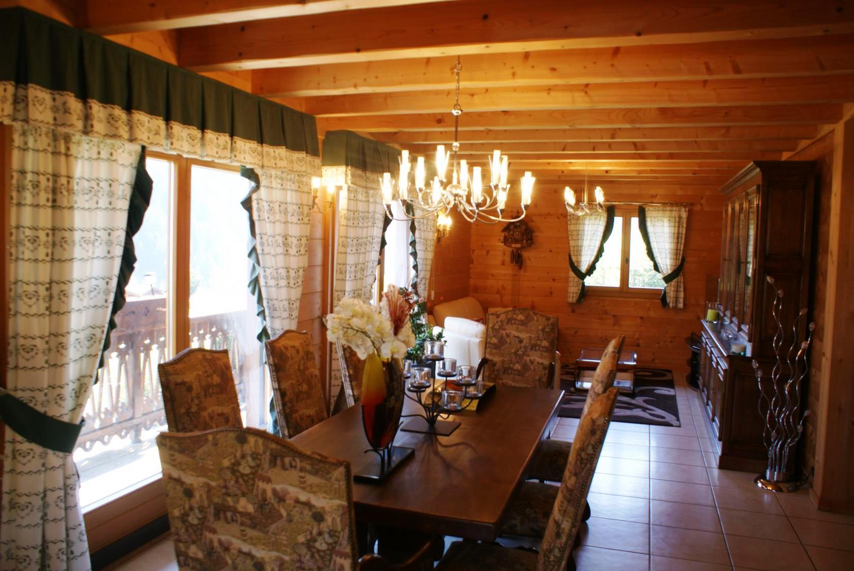 Bright, sunny dining room