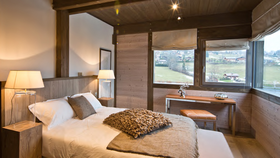 Megeve new chalets bedroom