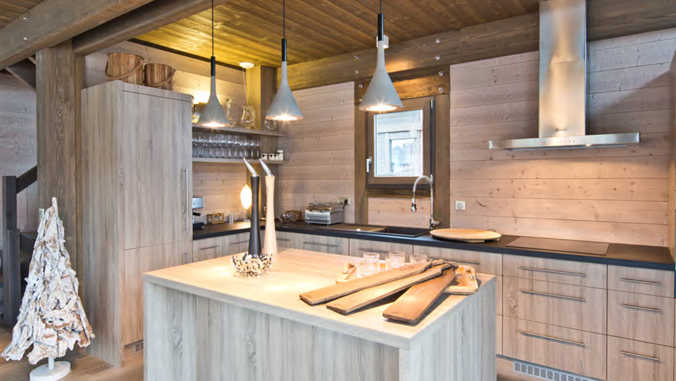 Megeve new chalets kitchen