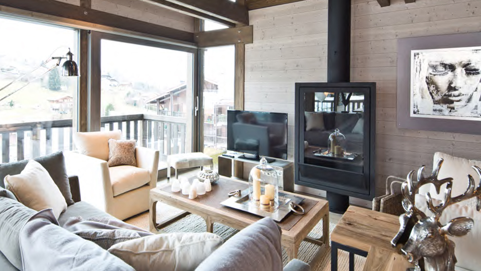Megeve new chalets living room