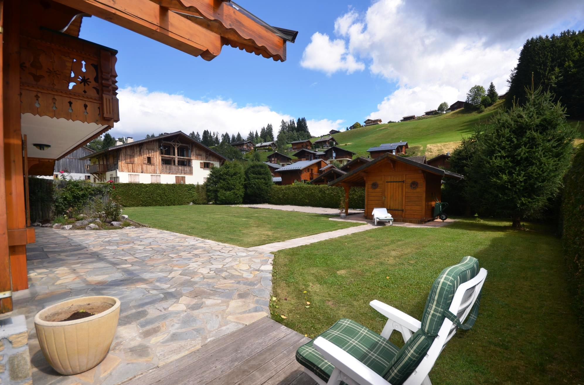 Garden of Les Gets chalet