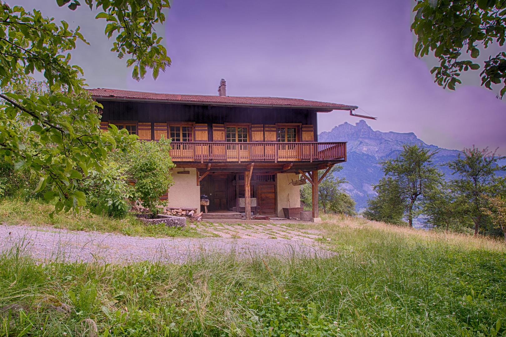 Beautiful farm in stunning peaceful Alpine setting'