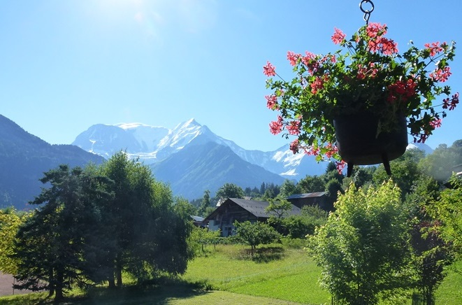 Building land in St Gervais with Mont Blanc view