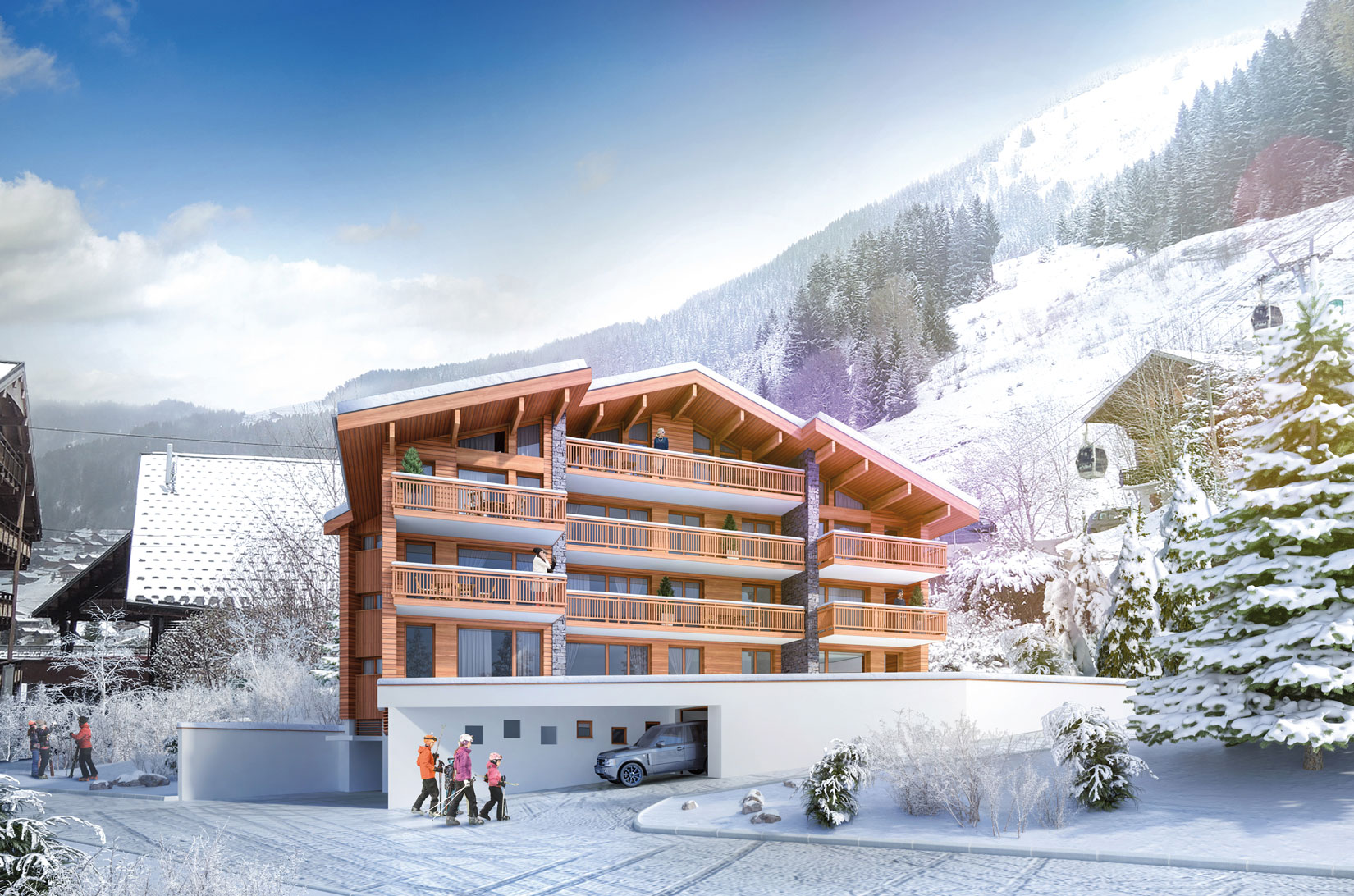 New Large Apartment in Chatel