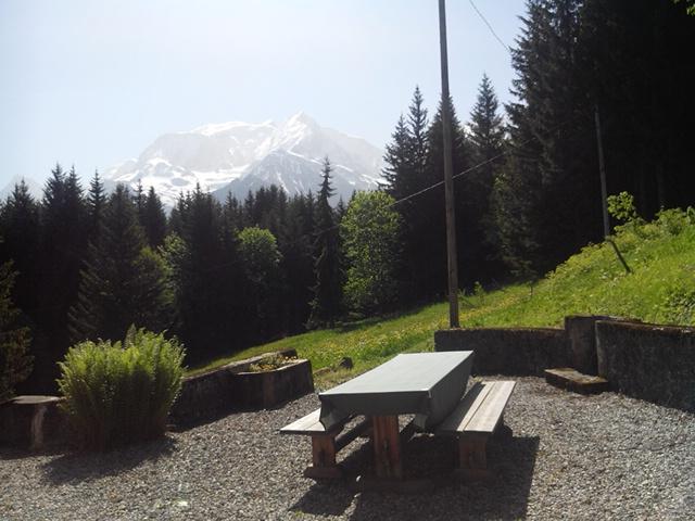 St Gervais ski farm view Mont Blanc