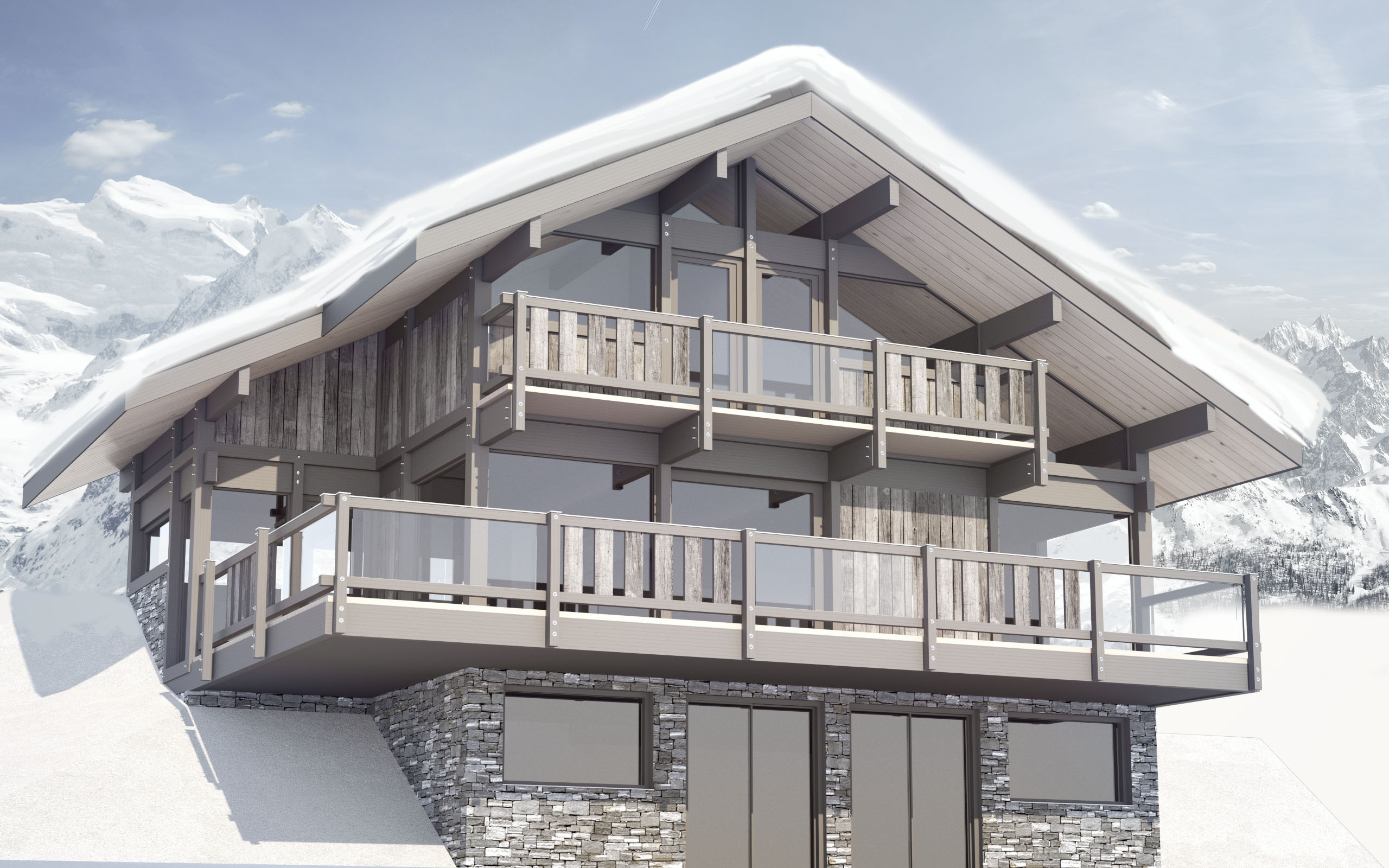 New build luxury chalets - St Gervais'