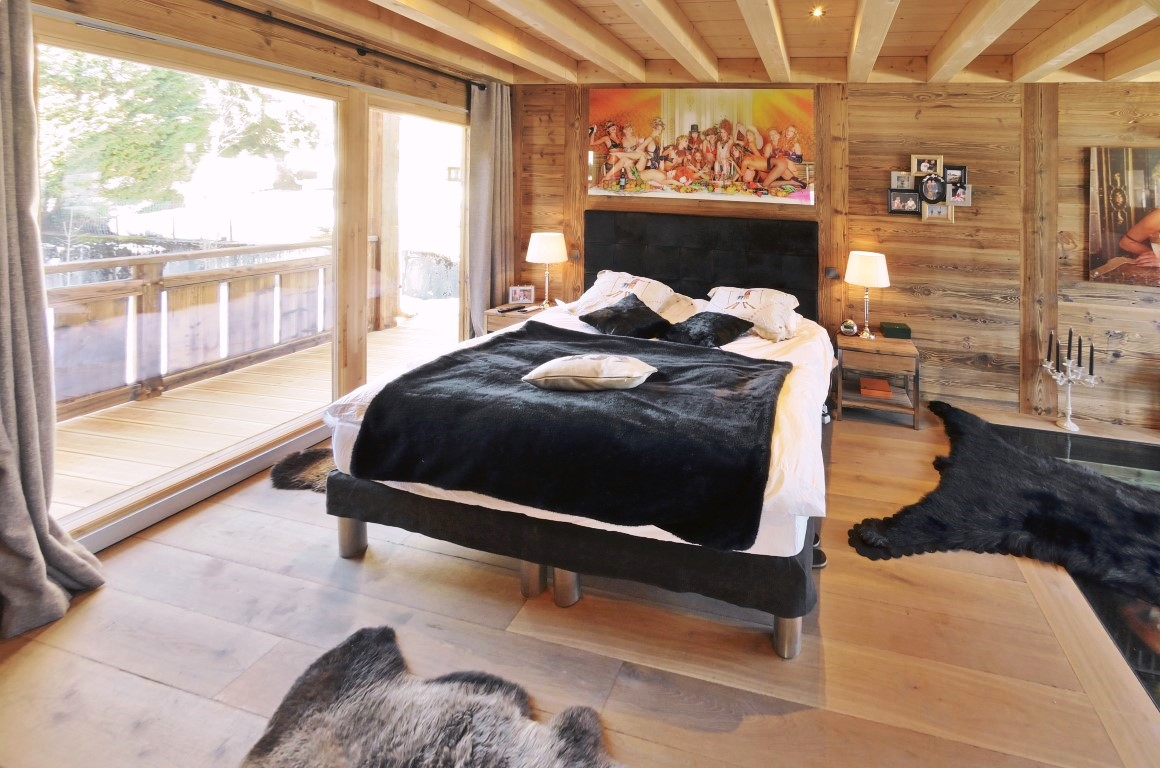 New Les Gets chalet - master bedroom