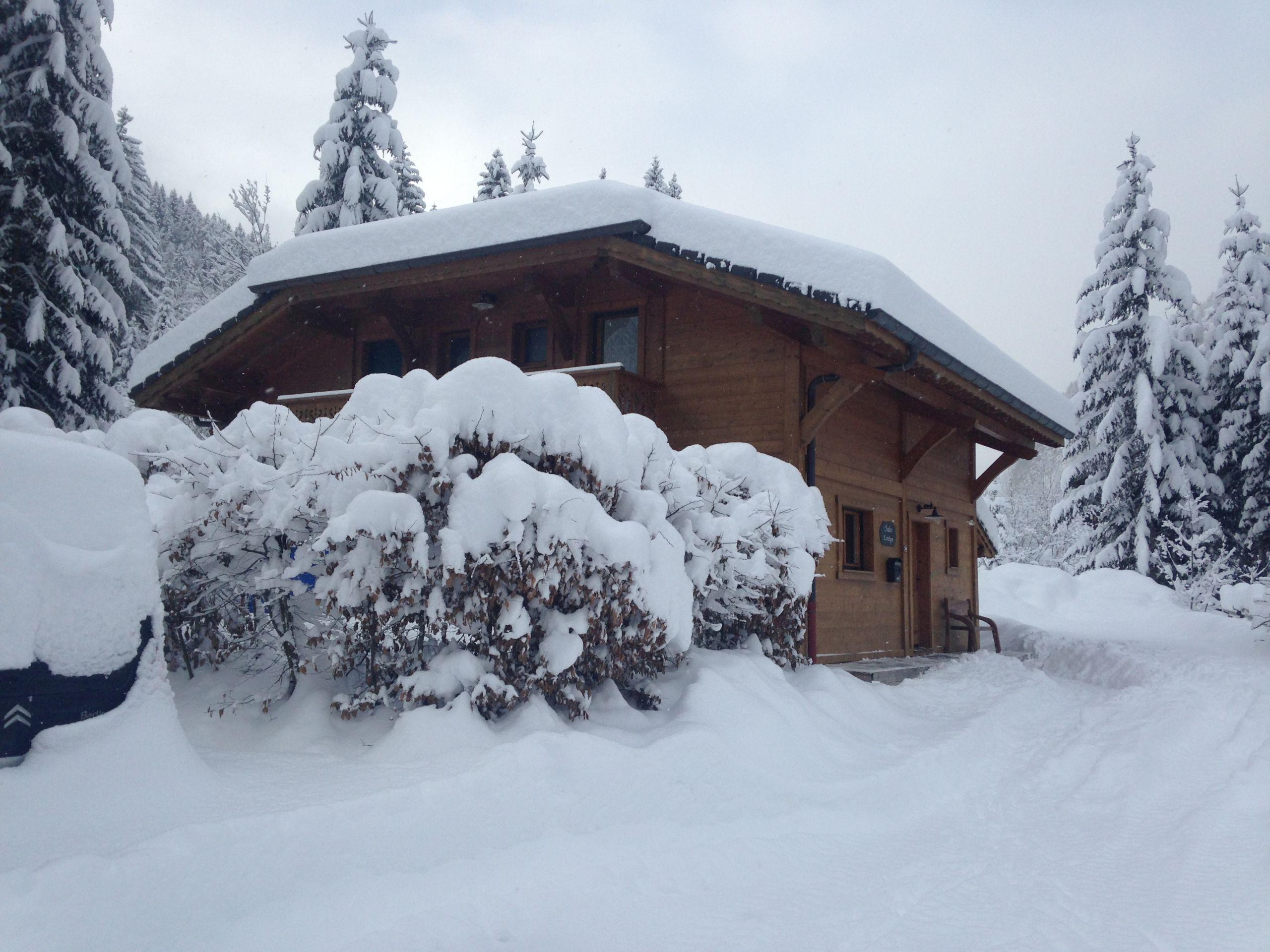 Chalet in winter