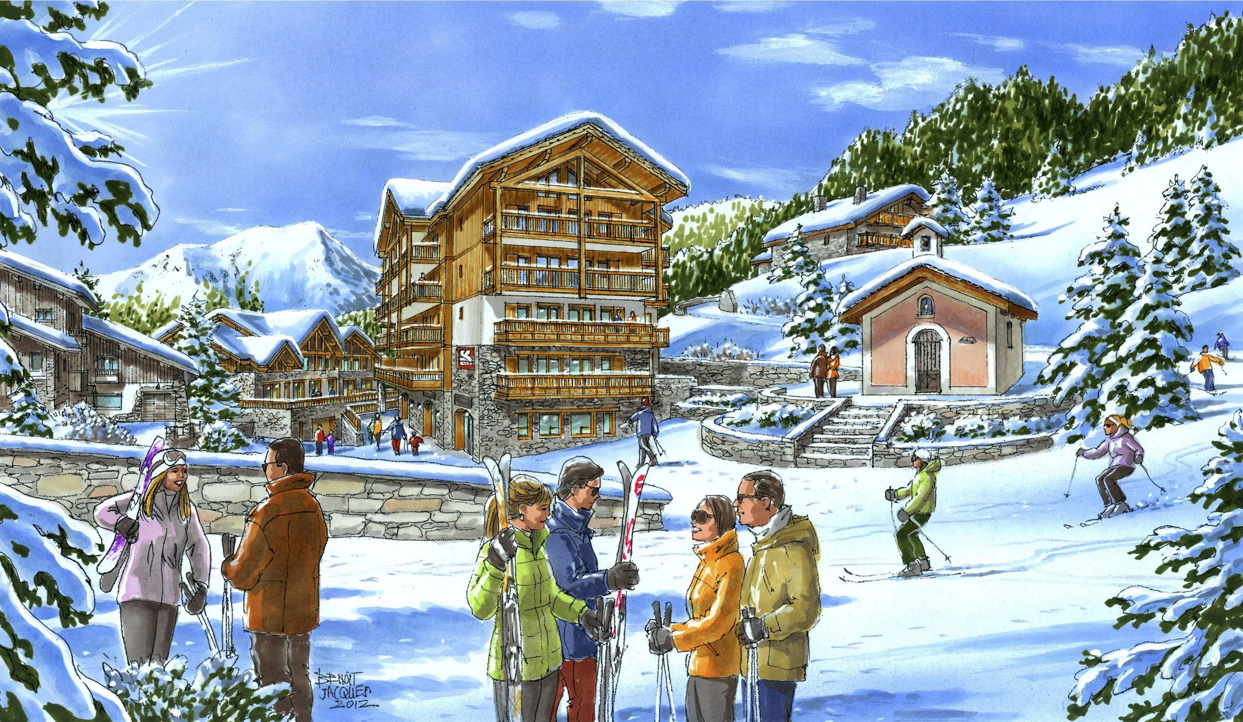 4 star eco development luxury ski in ski out apartments