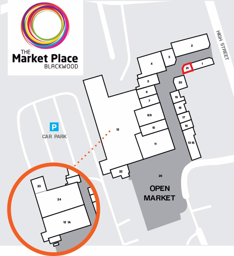 Unit 21, The Market Place Shopping Centre, Blackwood, Gwent, NP12 1AU