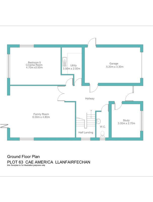 Plot no.63 cae america llanfairfechan layout1