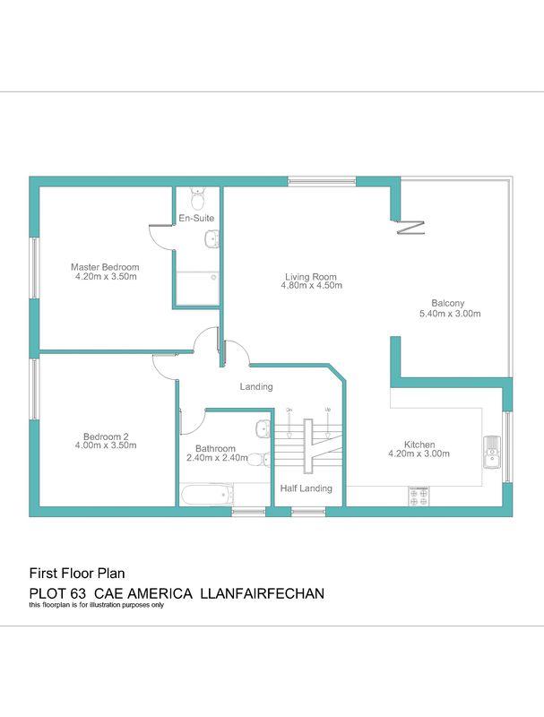 Plot no.63 cae america llanfairfechan layout2