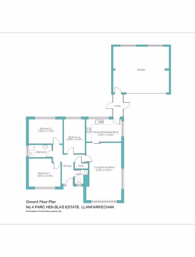 No.4 parc hen blas estate llanfairfechan layout1