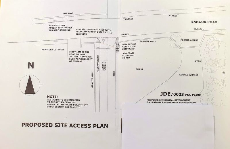 Development land site access