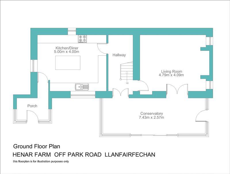 Henar farm main house floorplan