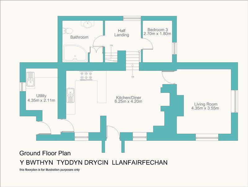 Y bwthyn tyddyn drycin llanfairfechan layout1